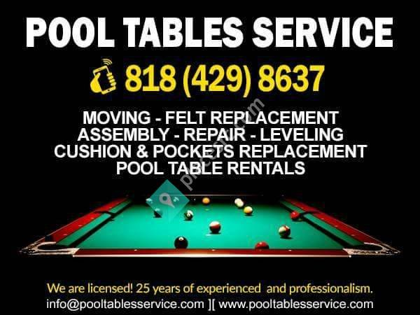 Pool Tables Service Movers Los Angeles - Pool table assembly service near me